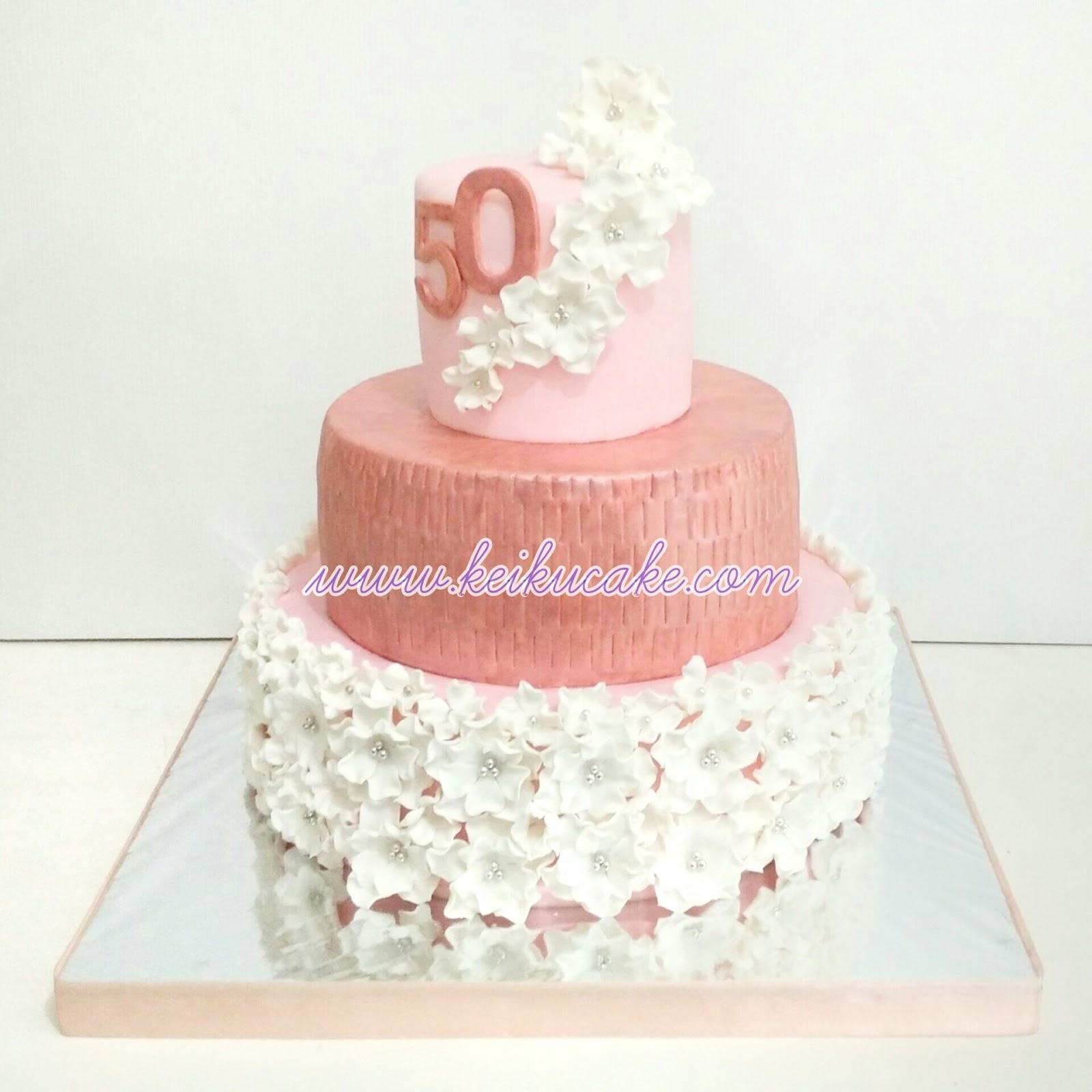 Keiku Cake 3 tiers wedding anniversary cake with