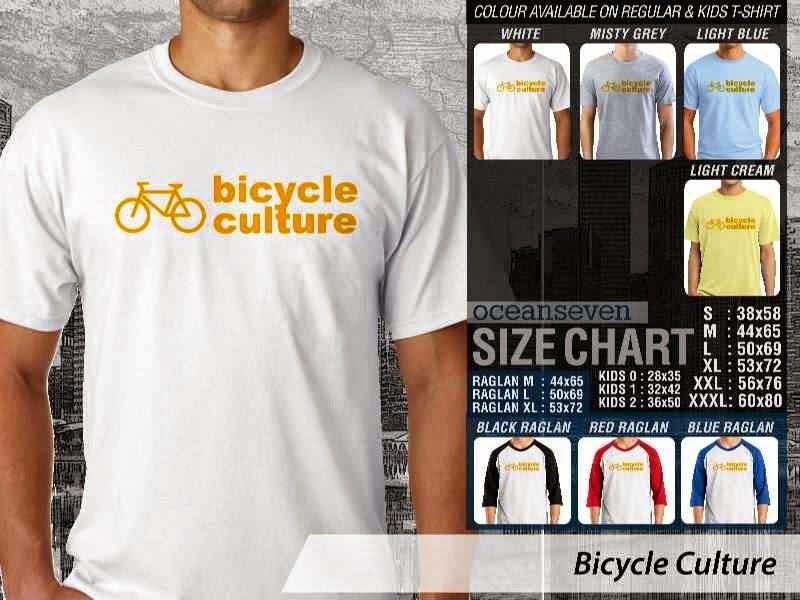 KAOS Bicycle Culture Untuk Sepeda Biker Mania distro ocean seven