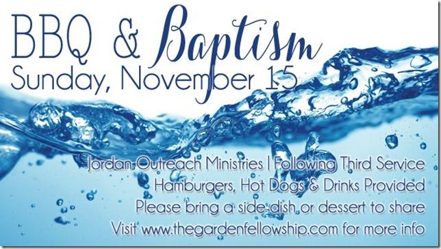 BBQ & Baptism