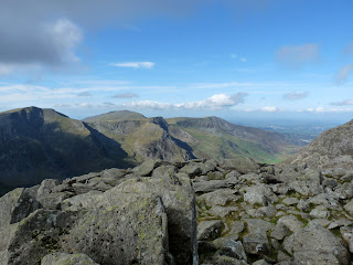 Great views from the summit of Tryfan