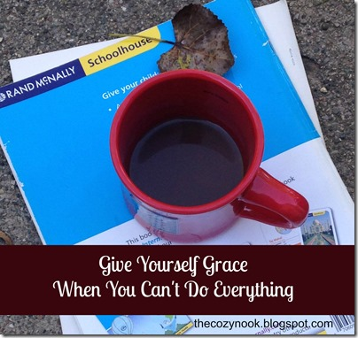 Give Yourself Grace  - The Cozy Nook