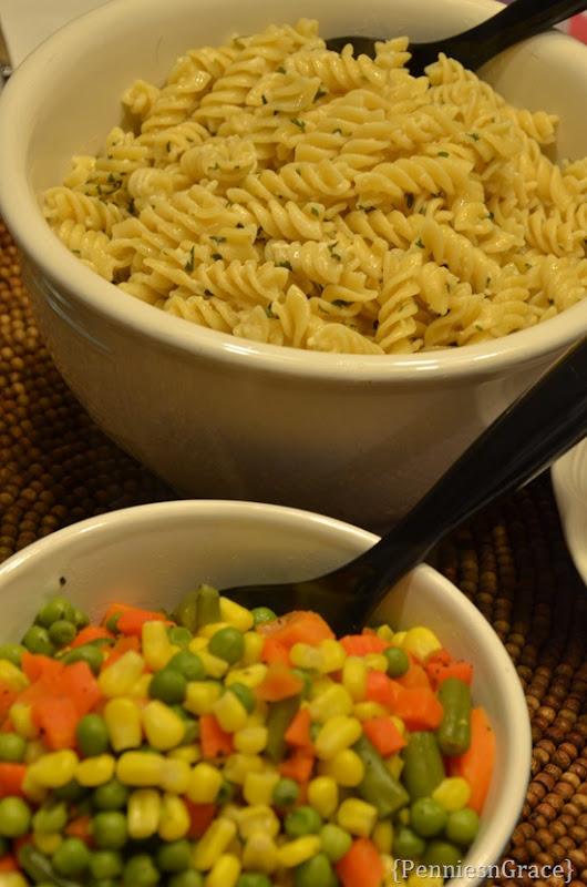 Garlic Parmesan noodles