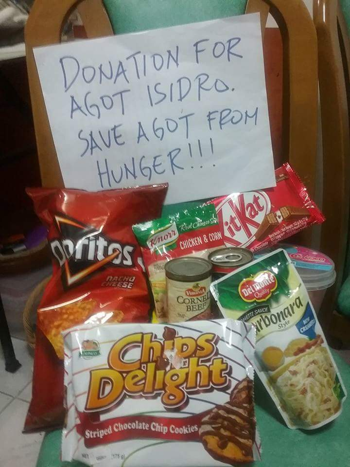 Image of Donation for Agot Isidro. Save Agot From Hunger.