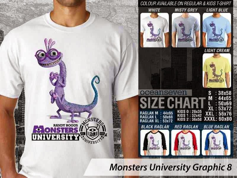 KAOS Monster University 18 Film Lucu distro ocean seven