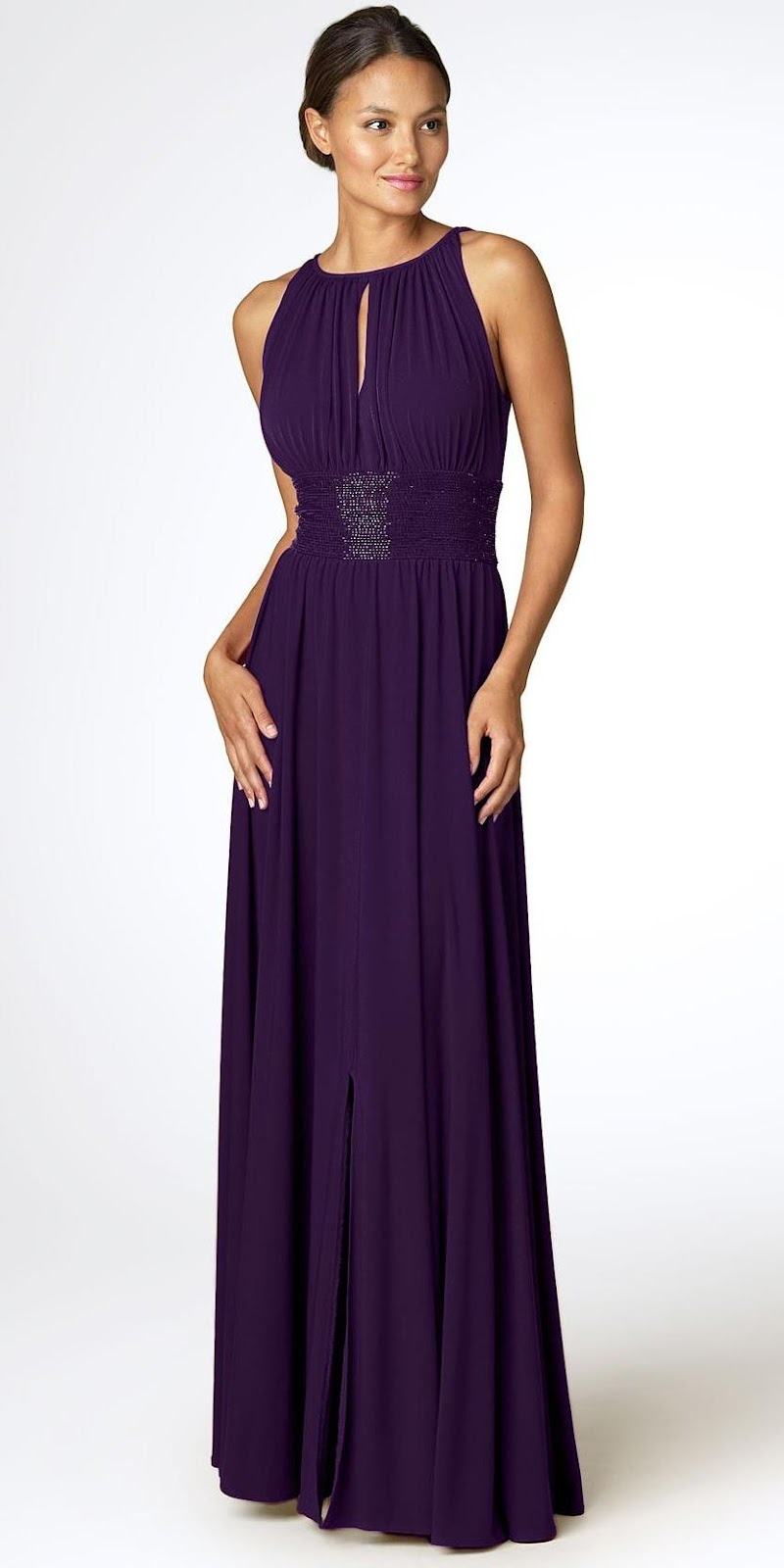 Length : Floor Length 2.Fabric : Satin 3.Neckline : Bateau About Us: Our