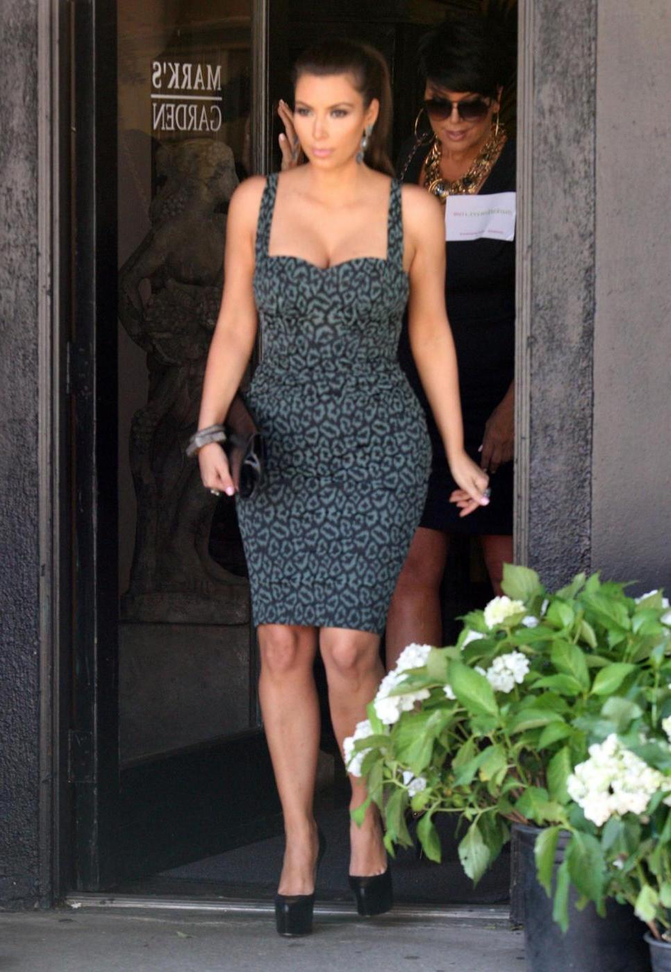Kim Kardashian con la madre