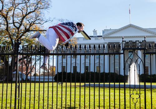 white house fence scaler