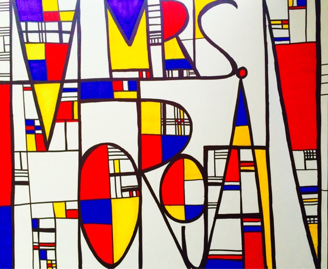 how to make your own piet mondrian painting