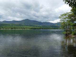 Coniston Water from the eastern shore.