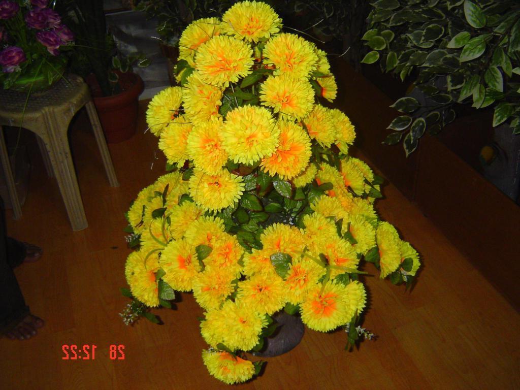 Artificial Flowers  Daliya Titanic Mate Pot  India