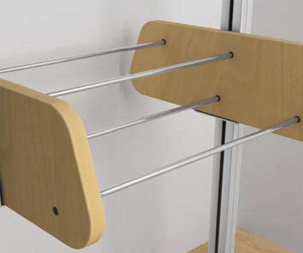 Componentes modulares zapatero tubular for Zapateras para closet madera