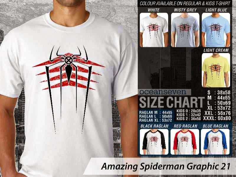 Kaos Film Superhero Amazing Spiderman Graphic 21 distro ocean seven