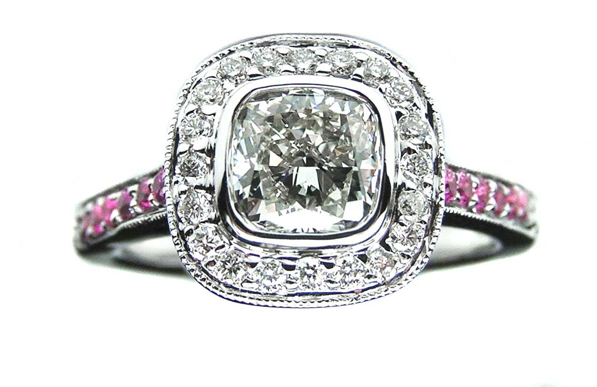 Halo Engagement Ring with