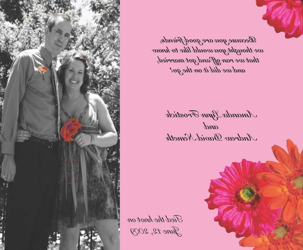 Wedding announcement. View original file MeLikey