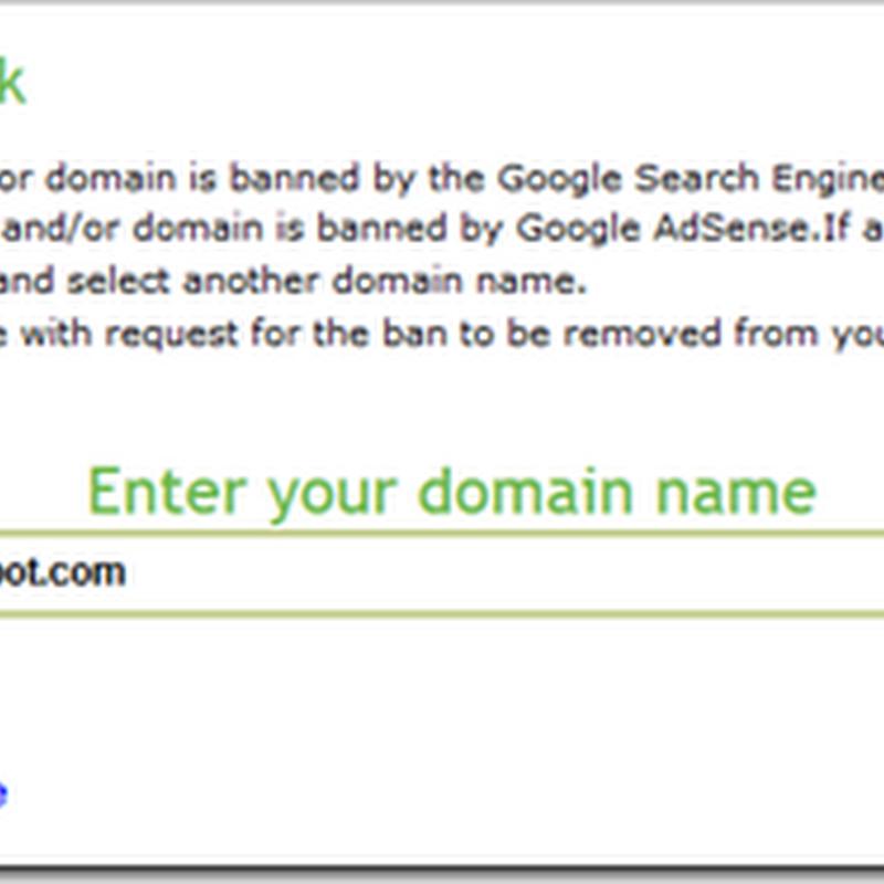 Cara mengetahui suatu blog apakah dibanned google Adsense atau tidak