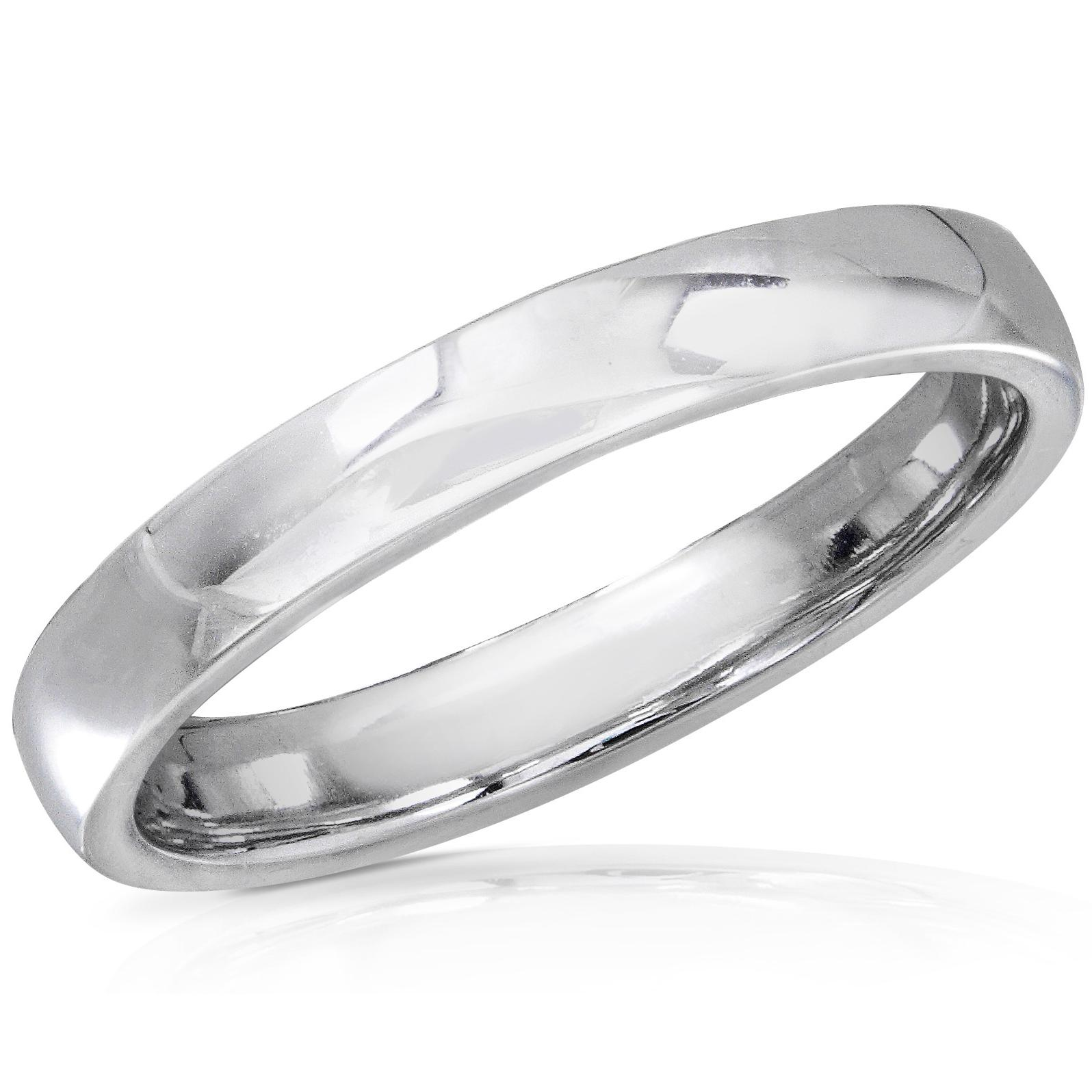 14K White Gold Wedding Band  2.75mm . Double click on above image to view