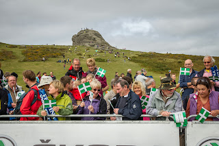 Haytor was busy hours before the scheduled finish