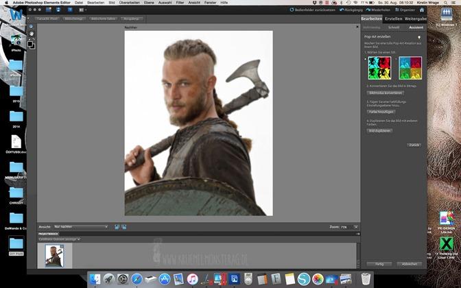 Minitutorial (03) Ich plotte mir Ragnar Lothbrok zum Kuscheln