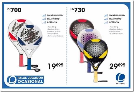 Colección Palas Pádel ARTENGO 2015-16 MODELOS 1