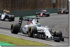 Felipe Massa escluso dall'ordine d'arrivo del gran premio del Brasile 2015