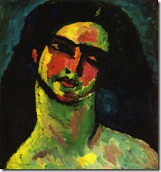 Alexej von Jawlensky - Head of An Italian Woman witih Black Hair from the Front