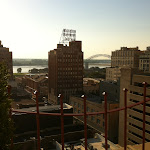 The view from the roof of the Peabody Hotel in Memphis TN 07202012