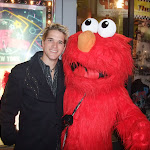 ELMO!  (Elmo charged $3 for this picture and had a Nigerian accent)