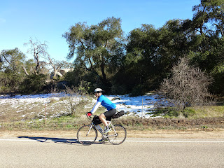 Patches of snow above Temecula.
