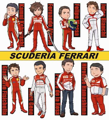 Scuderia Ferrari 2013 - комикс Xsy