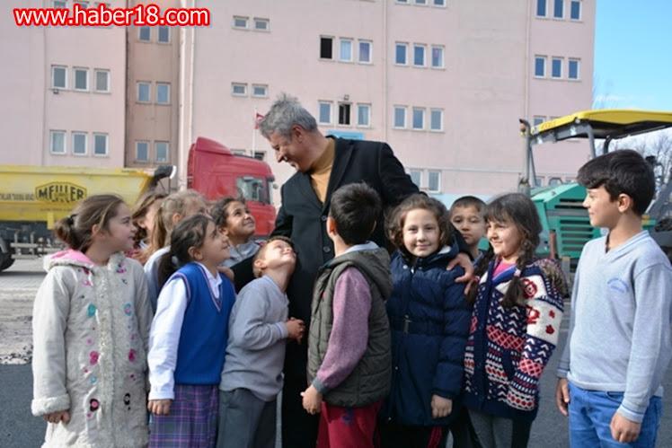 Çerkeş Belediye Başkanı Hasan Sopacı Öğrencilerin Yüzü Güldü