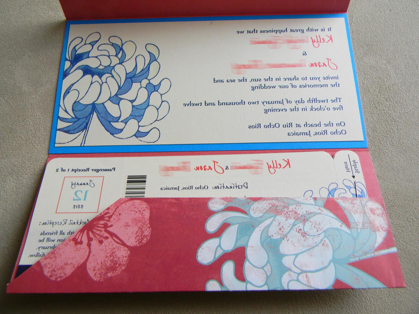 wedding invitation, Pocket