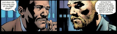 Tony Stark (Iron Man) visiting Thor in prison - from the series Ultimates 2