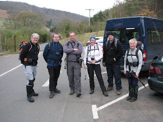 All ready to set off for Derwent Edge