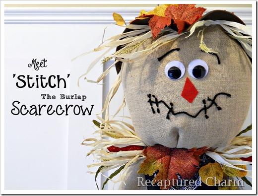 Burlap Scarecrow 1