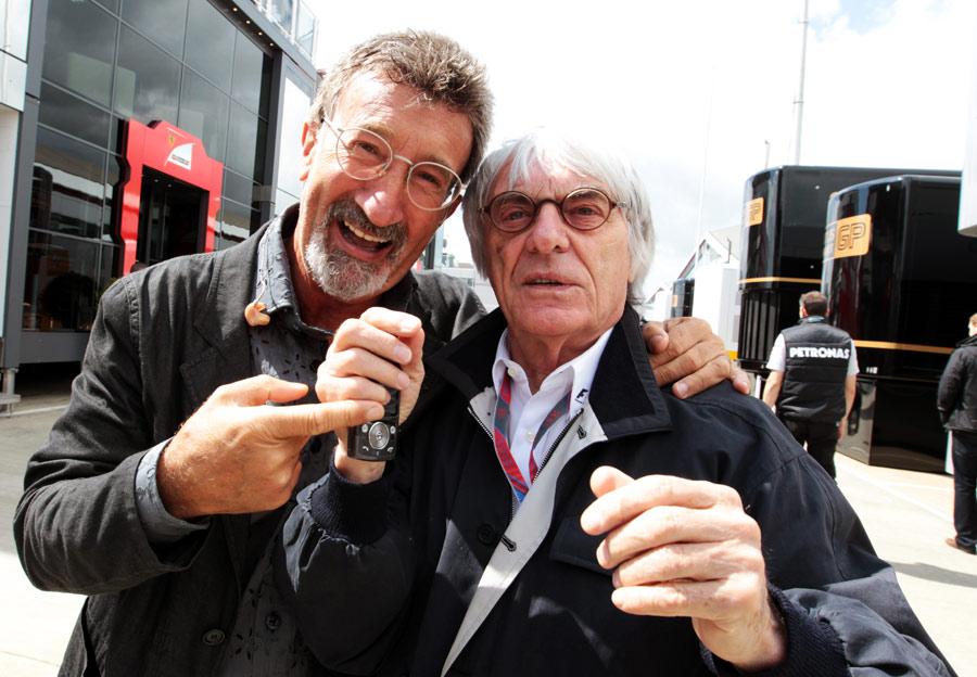 Эдди Джордан и Берни Экклстоун на Гран-при Великобритании 2011 в Сильверстоуне