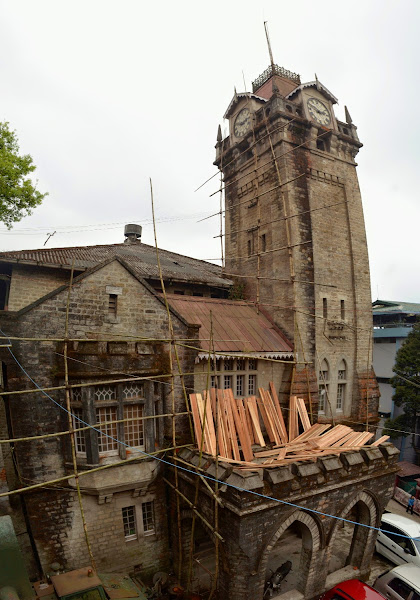 Darjeeling clock tower дарджилинг башня с часами панорама