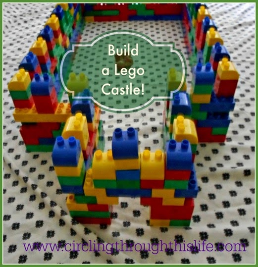 Once-a-Week unit study Knights & Nobles includes fun activities like building a lego castle! See Tess's Review at Circling Through This Life