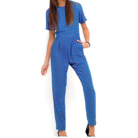 motel rocks blue jumpsuits
