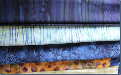Border fabrics for Wiggle me quilt