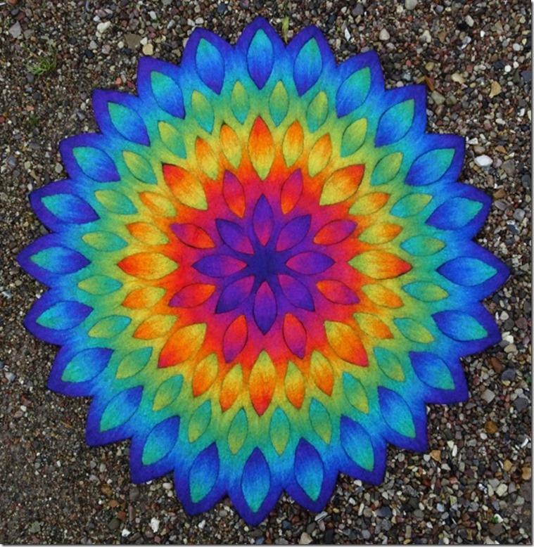 Meditationsteppich Blütenmandala