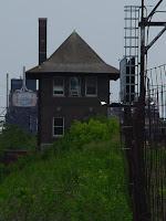 Distillery District, Toronto, June 2004: Train signal box