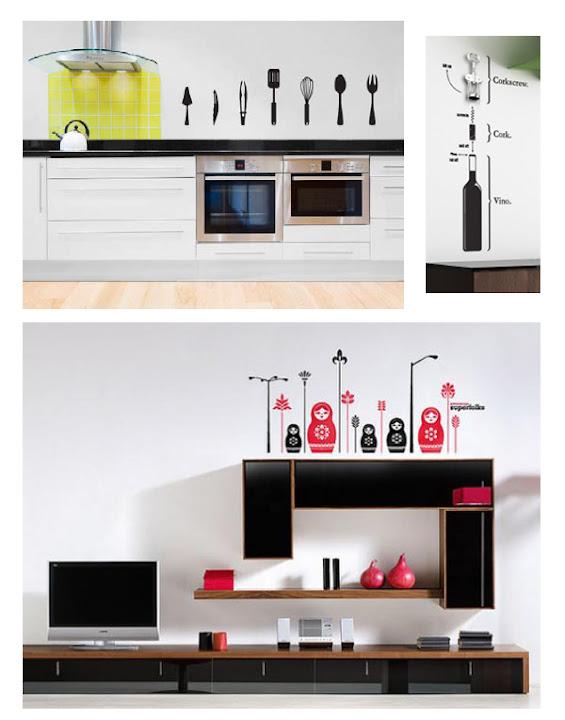 Kreative Wandaufkleber für die Küche