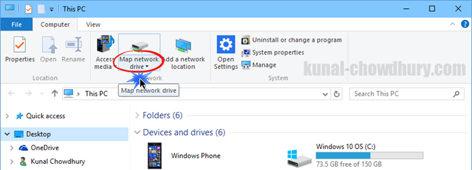 4. Map a new Network Drive in your File Explorer