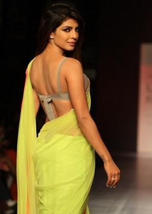 priyanka chopra backless aree