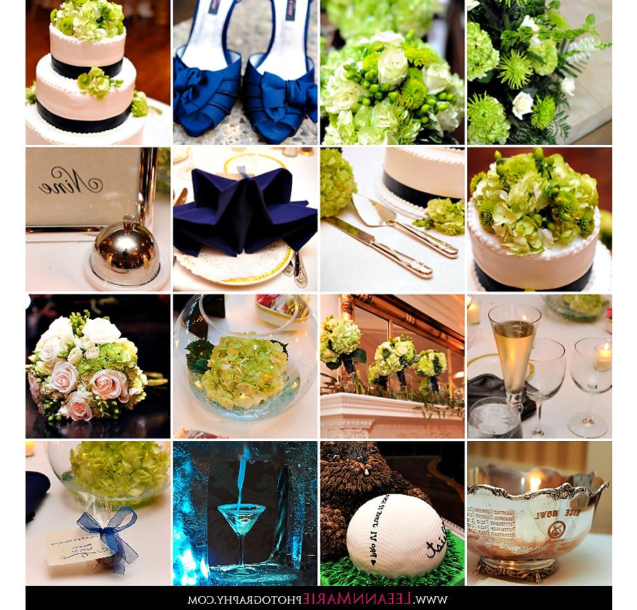 Navy Blue & Green Wedding
