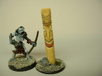 Native totem idol Fantasy war game terrain and scenery