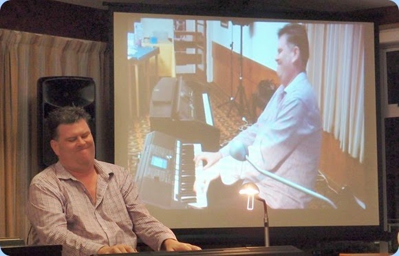 Our Special Guest Artist, Chris Larking, playing the Yamaha PSR-S950 keyboard. Inspiring muicianship! Photo courtesy of Dennis Lyons.