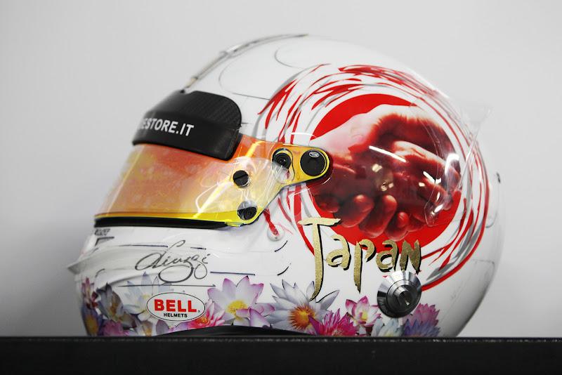 шлем Витантонио Льюцци на Гран-при Японии 2011 - вид слева
