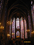 The inside of Sainte-Chapelle