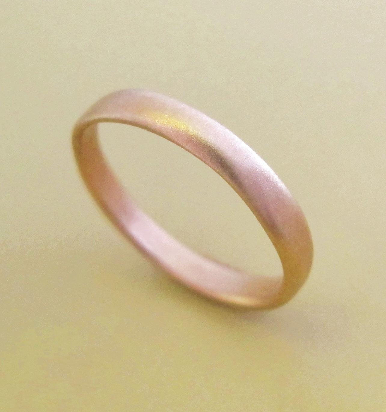 14k Rose Gold Wedding Band - 3
